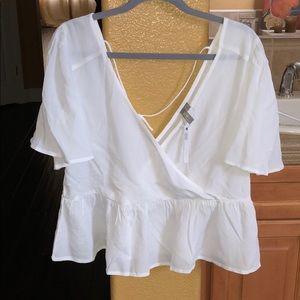 Cute white top!